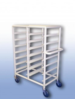 Double Bay 14 x Tray service trolley with Recessed top - Professional/Trolleys/Food service Trolleys
