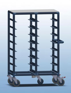 Double Bay 16 x tray service trolley - Professional/Trolleys/Food service Trolleys