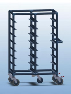 Double Bay 16 x Tray service trolley with open top - Professional/Trolleys/Food service Trolleys