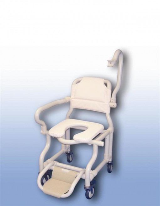 Large deluxe mobile shower chair in Bathroom Safety/Shower Chairs & Seats
