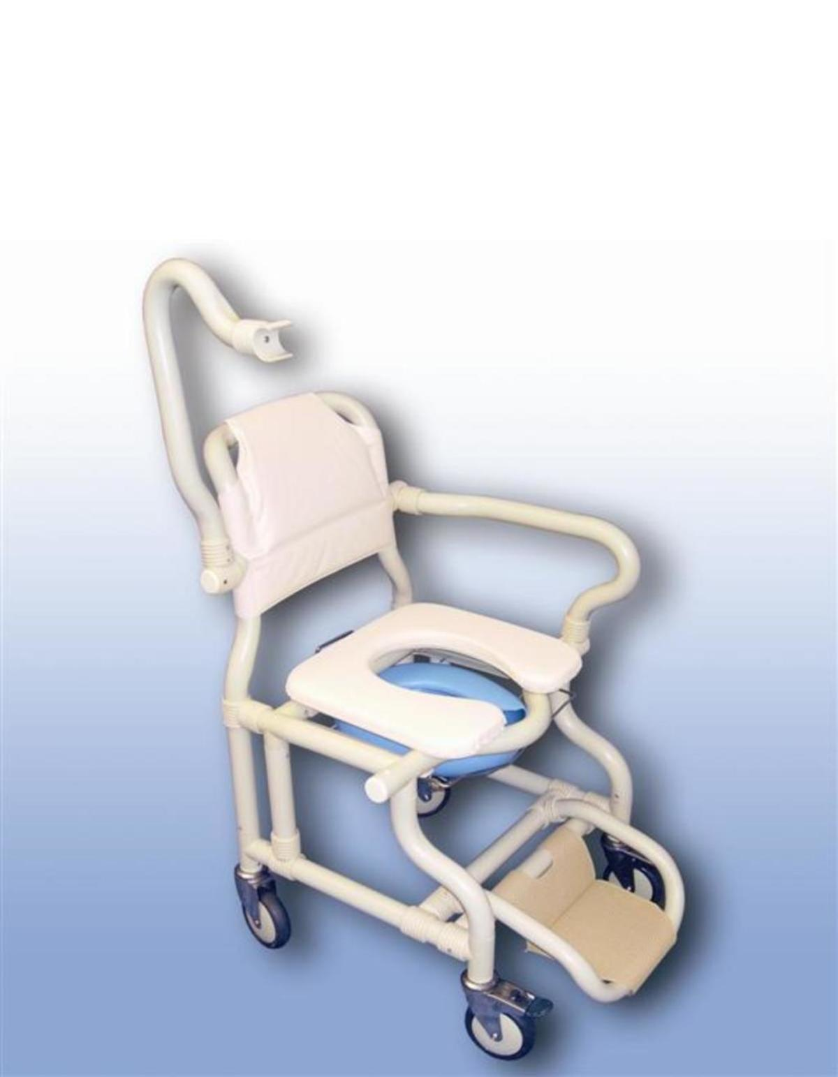 Large Deluxe Mobile Shower Chair With Pan Panholder