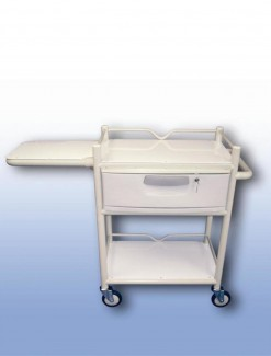 Lockable Single Drawer Trolley (with fold away table) - Professional/Trolleys/Drawer Trolleys