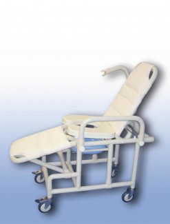 Mobile shower recliner with pan/pan holder - Bathroom Safety/Shower Chairs & Seats