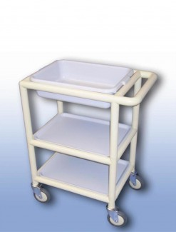Multi-Purpose trolley (3 x shelves with trays) - Professional/Trolleys/Multi-use Trolleys