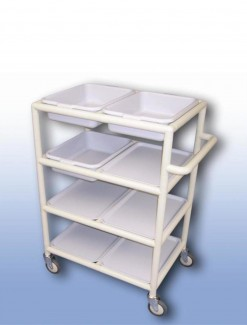 Multi-Purpose trolley (4 x shelves with trays) - Professional/Trolleys/Multi-use Trolleys