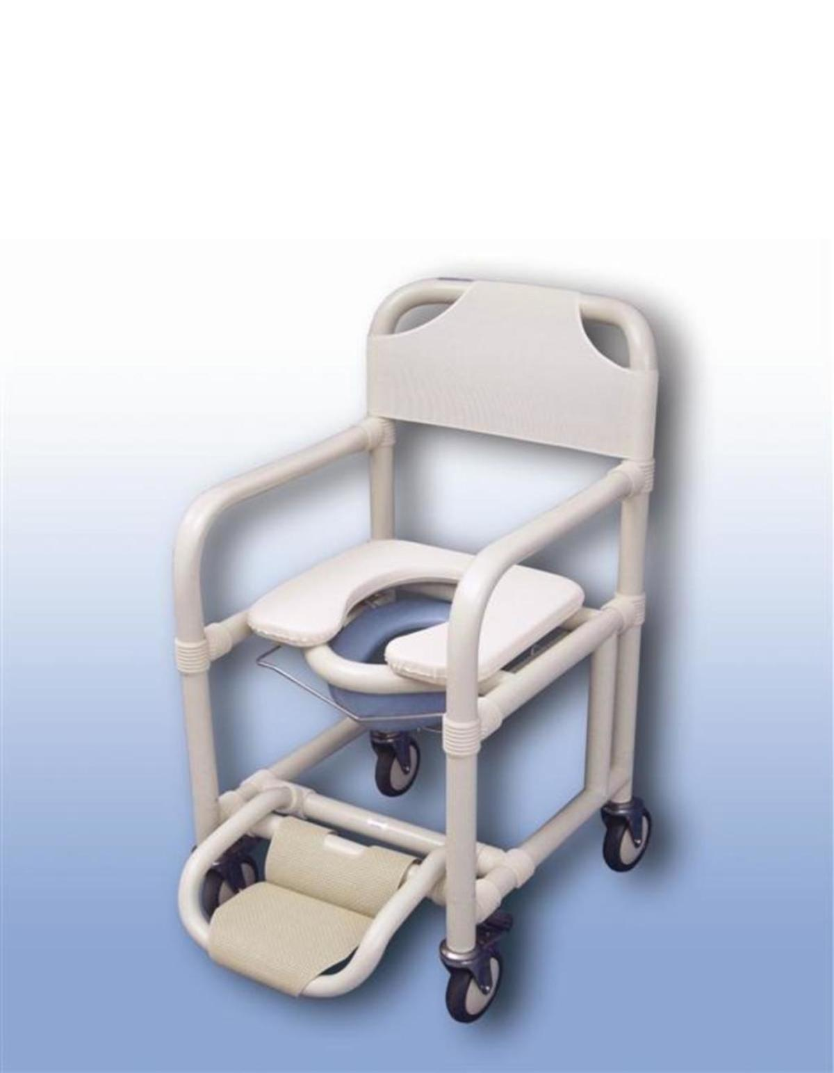 Standard Mobile Shower Chair With Pan Pan Holder
