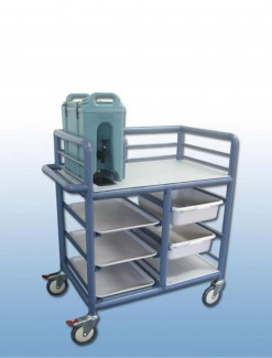 The 'Lainie' 2 x Bay Single Urn Trolley with trays and tubs - Professional/Trolleys/Beverage Trolleys