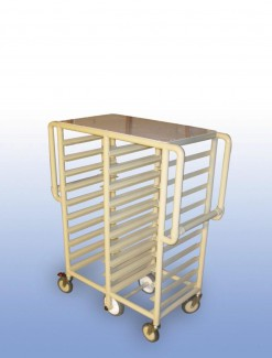 """The """"Whelan"""" Double bay 20 x Tray service trolley - Professional/Trolleys/Food service Trolleys"""
