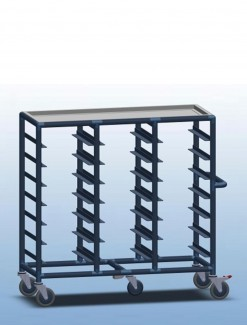 Triple Bay 21 x Tray service trolley with recessed top - Professional/Trolleys/Food service Trolleys