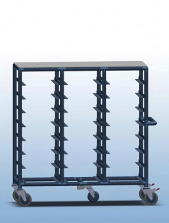 Triple Bay 21 x Tray service trolley with solid top - Professional/Trolleys/Food service Trolleys
