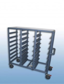 Triple Bay 24 x Tray service trolley with recessed top - Professional/Trolleys/Food service Trolleys