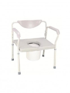 Heavy Duty Commode All-in-One with Padded Back - Bathroom Safety/Commodes
