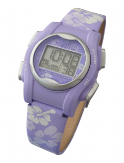 VibraLITE MINI - Purple Leather Band - Vibrating 12 Alarm Reminder Watch - Medication Aids/Medication Reminders & Alarms